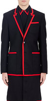 Givenchy MEN'S GROSGRAIN-TRIMMED FLANNEL TWO-BUTTON SPORTCOAT
