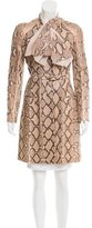 Louis Vuitton Python Knee-Length Coat