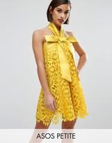 Asos SALON Aline Lace Mini Dress with Bow Detail