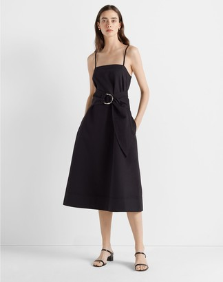 Club Monaco Belted A-Line Dress