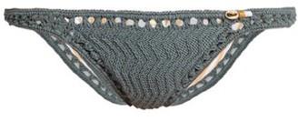 She Made Me Laharia Mini Hipster Crochet Bikini Briefs - Grey