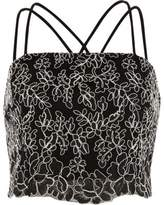 River Island Womens Black lace cross back cami bralet