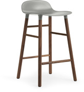 Normann Copenhagen Form Barstool H65cm Grey/Walnut