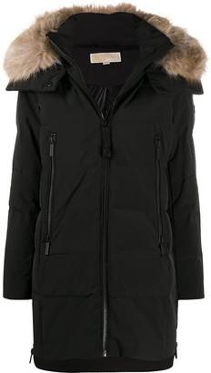 MICHAEL Michael Kors Faux-Fur Trimmed Hood Coat