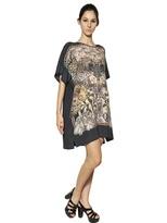 Emma Cook Printed Silk Cotton Crepe De Chine Dress
