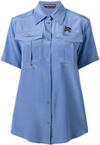 Rochas short sleeve military shirt - women - Silk - 38