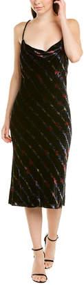 Milly Strappy Silk-Blend Midi Dress
