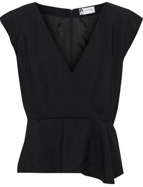 Lanvin Wrap-effect Crepe Top