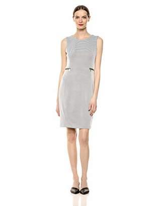 Calvin Klein Women's Knit Jacquard Sheath Dress with Zippers
