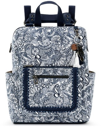 The Sak Sakroots Convertible Printed Backpack with Keychain - Loyola