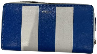Balenciaga Blue Leather Wallets