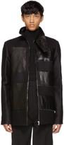 Rick Owens Black Stripe Brother Jacket