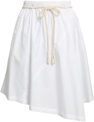 Vince Asymmetric Cotton-poplin Skirt