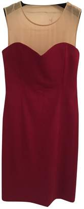 Maison Margiela Burgundy Wool Dresses