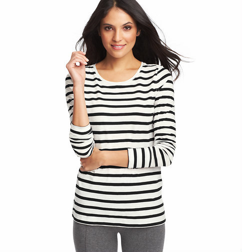 LOFT Striped Cotton Layering Tee