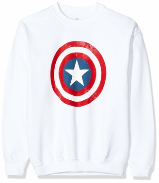 Marvel Girl's Avengers Captain America Distressed Shield Sweatshirt