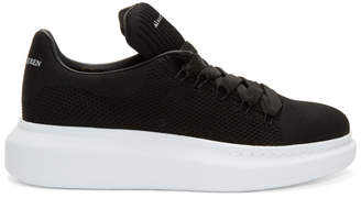 Alexander McQueen Black Knit Oversized Sneakers