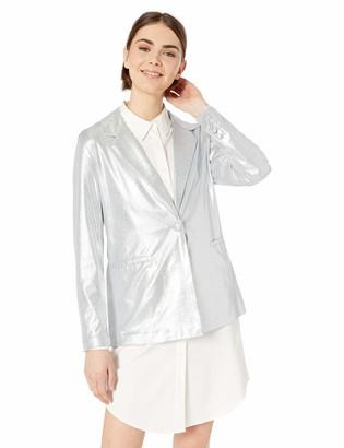 Nanette Lepore Women's LS Metallic Blazer w/Bttn Closure