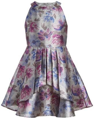 Calvin Klein Floral Shine High-Neck Dress