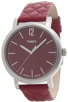 Timex Originals Matelasse Watch - Leather Strap (For Women)
