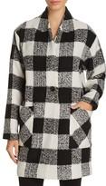 Sanctuary Check Print Cocoon Coat - 100% Bloomingdale's Exclusive