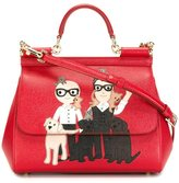 Dolce & Gabbana Designers patch 'Sicily' tote - women - Calf Leather - One Size
