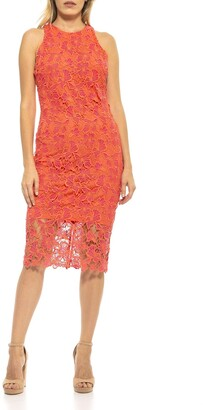 Alexia Admor Reese Crochet Lace Midi Dress