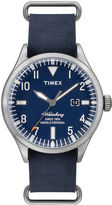 Timex Originals Modern Mens Blue Leather Strap Watch TW2P64500AB