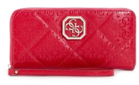 GUESS Dilla Large Quilted Logo Zip Around Wallet Wristlet