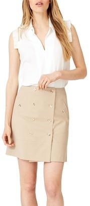 Damsel in a Dress Fia Safari Skirt, Neutral Stone