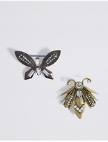 M&S Collection 2 Pack Bug Brooches