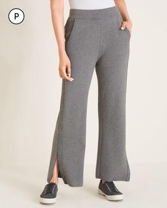 Zenergy Petite Cotton-Cashmere Blend Lurex Stripe Pants