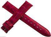 Locman Women's 16mm Red Alligator Leather Watch Band Strap