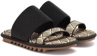 Dries Van Noten Beaded raffia sandals
