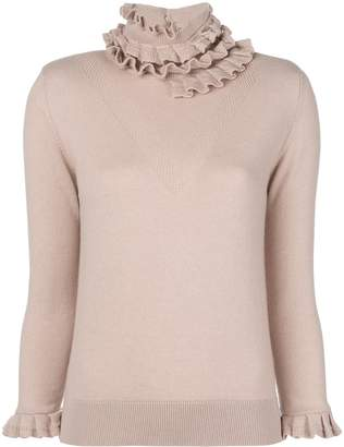 Barrie Flying Lace cashmere turtleneck pullover
