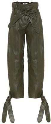 ATTICO High-rise leather pants