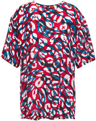 Roberto Cavalli Printed Silk Crepe De Chine Blouse