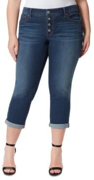 Jessica Simpson Trendy Plus Size Arrow Straight-Leg Ankle Jeans