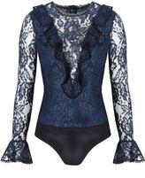 Alexis Pollie Bodysuit Navy Lace