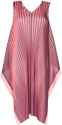 Pleats Please Issey Miyake Alt Bright plisse midi dress
