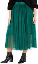 ELOQUII Pleated Tulle Maxi Skirt
