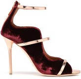 Malone Souliers Metallic Leather-trimmed Velvet Pumps