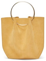 The Row Ring-handle Suede Tote Bag - Womens - Nude