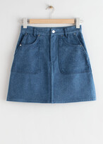 Thumbnail for your product : And other stories Denim A-Line Mini Skirt
