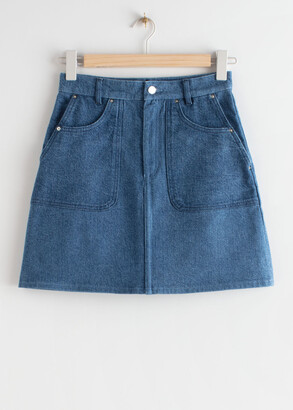 And other stories Denim A-Line Mini Skirt