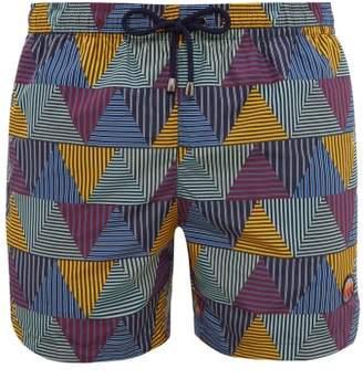 Missoni Mare - Triangle Print Swim Shorts - Mens - Blue Multi