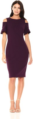 Calvin Klein Women's Cold Shoulder Sheath Dress with Back Zipper