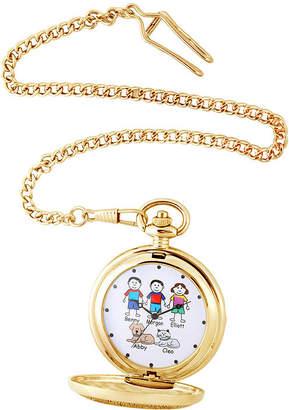 FINE JEWELRY Unisex Adult Gold Tone Bracelet Watch-41477-G