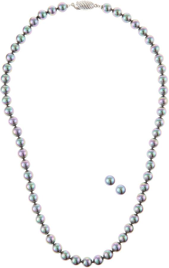 Majorica Pearl Necklace & Studs Set