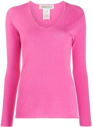 Lamberto Losani V-Neck Knitted Jumper